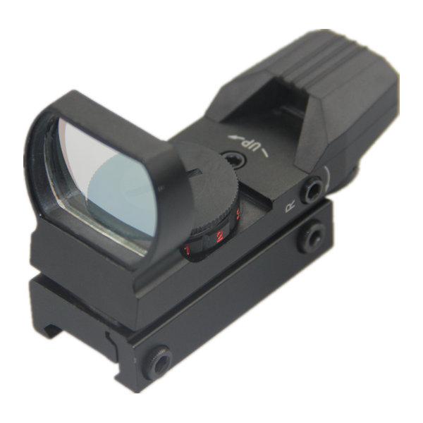 Tactical 4 Reticle Reflex Micro Dot Sights 1x22x33 Red and Green Dot Scope L1x22x33RGD