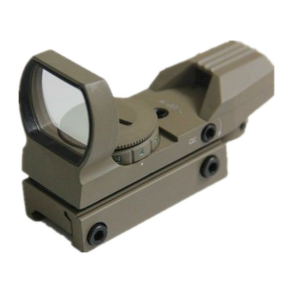 Desert Tan Tactical 4 Reticle Reflex Dot Sights 1x22x33 Red and Green Dot Scope L1x22x33DT